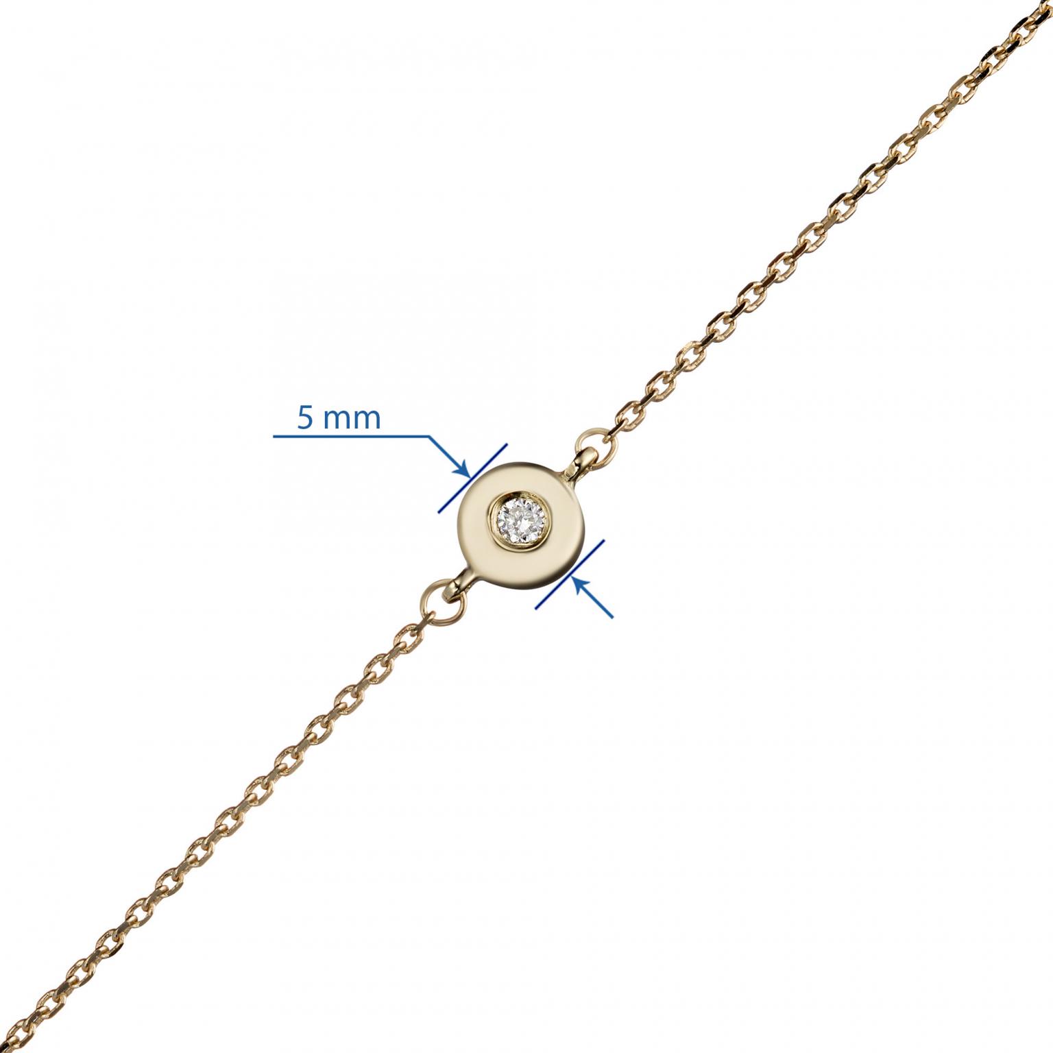 Браслет из желтого золота с бриллиантом э0301бр03201030