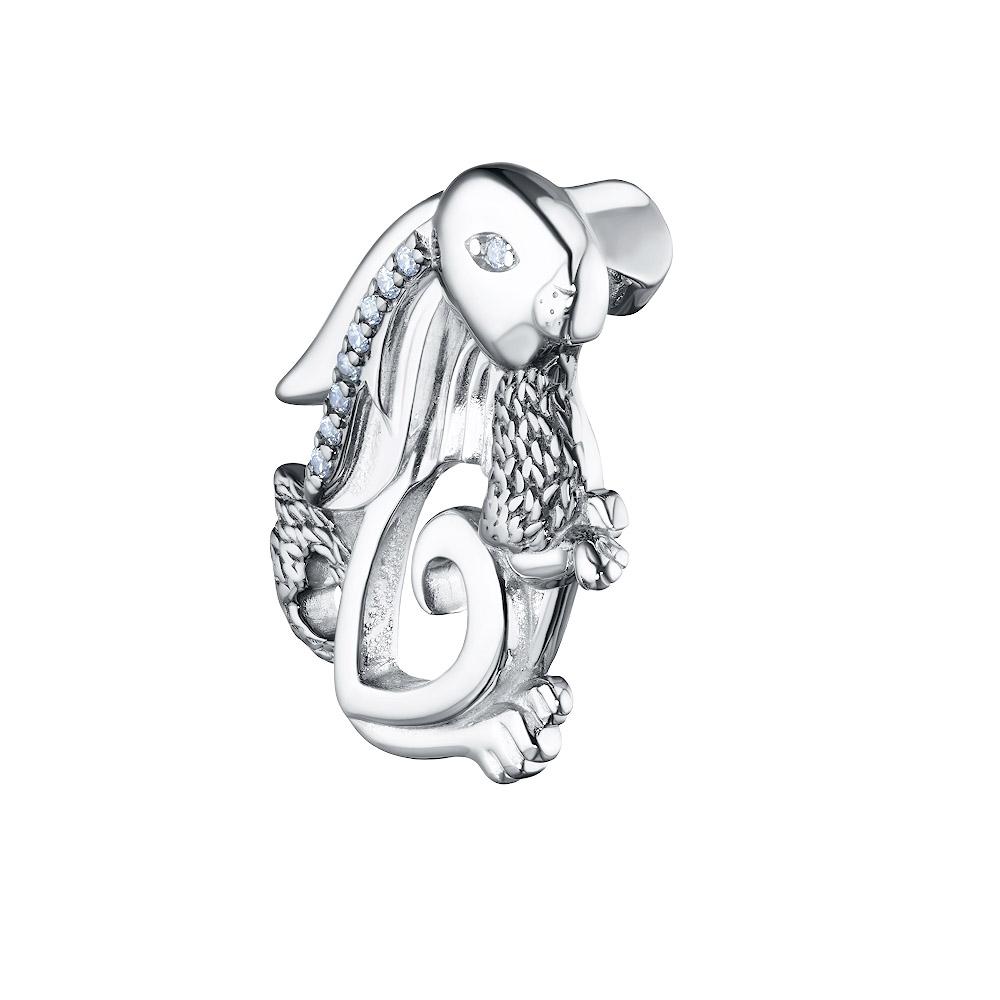 Брошь из серебра с фианитом 700112-301-0029