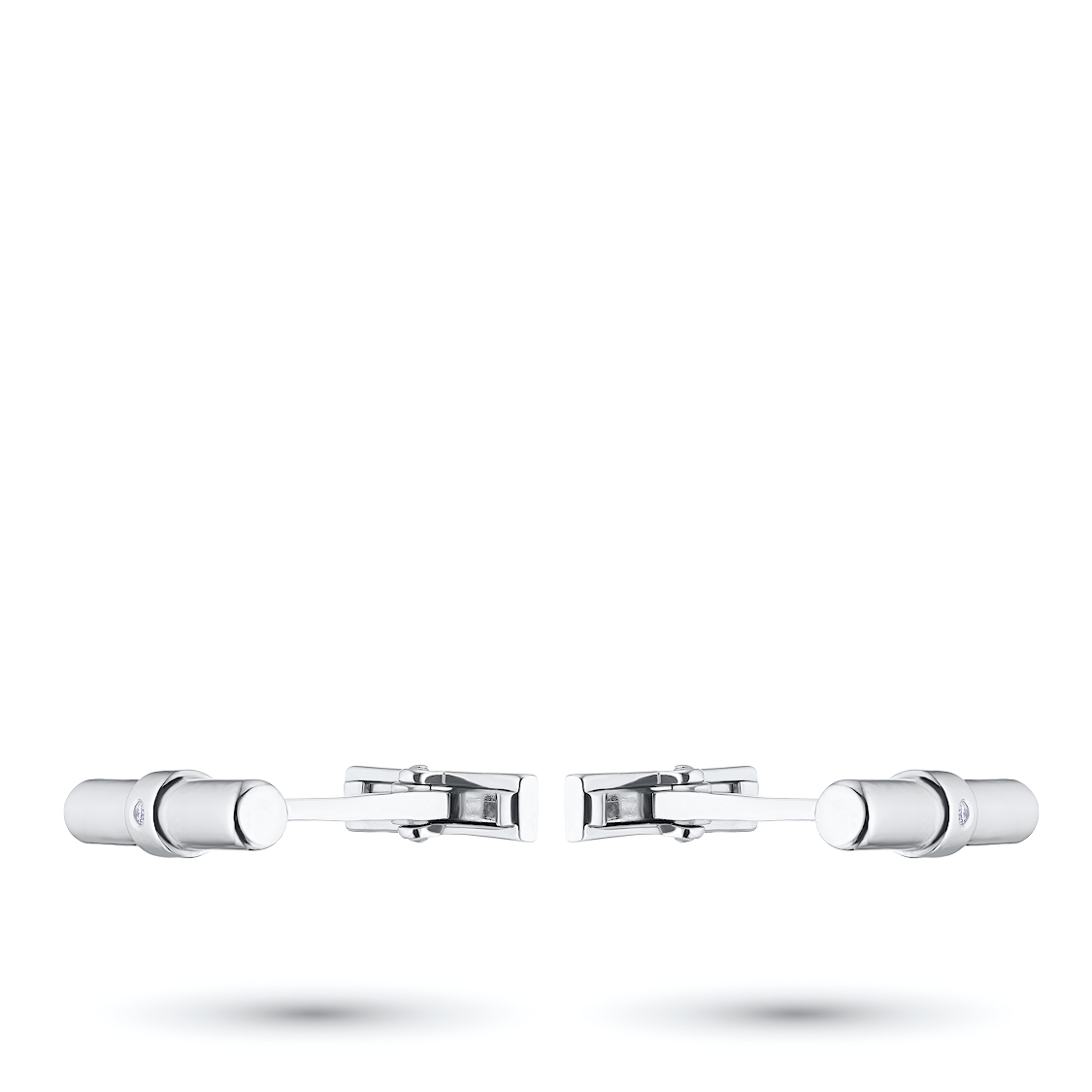 Запонки из серебра с бриллиантом э0601зп02182500