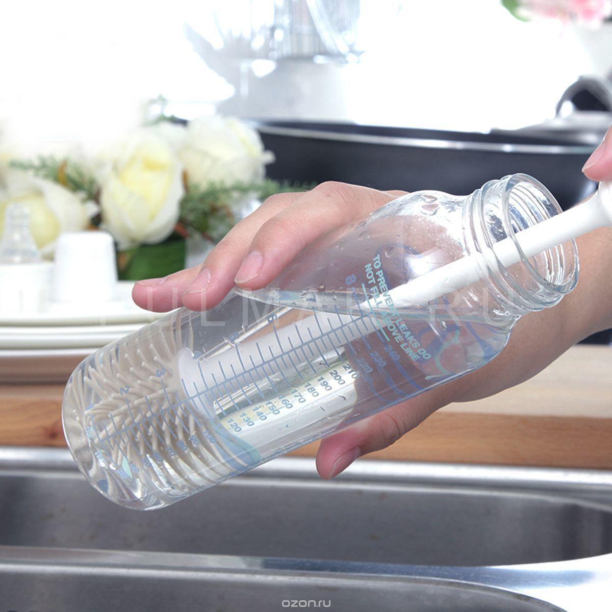 Силиконовый ершик для чистки маленьких детских бутылочек Boomjoy