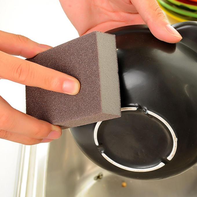 Губка для мытья и полировки посуды жесткая