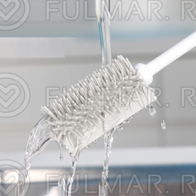 Цилиндрический силиконовый ершик для бокалов и стаканов Boomjoy