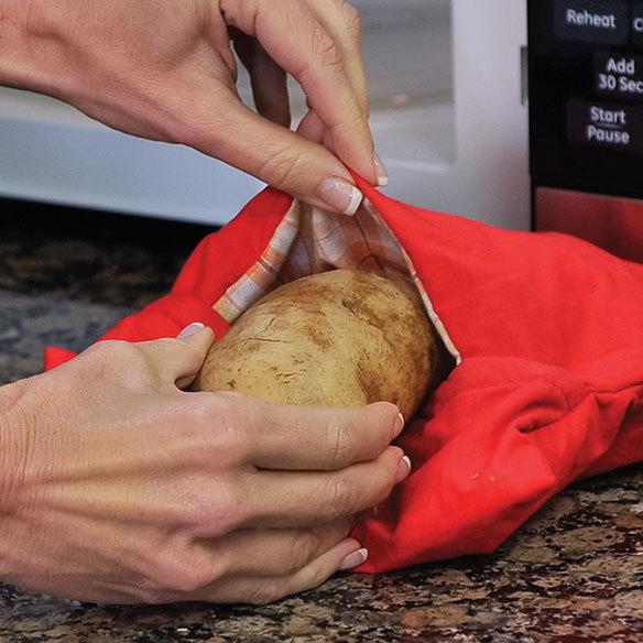 Мешок для запекания картошки в микроволновке Красный