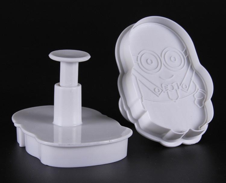 Комлпект 2 штуки формы-прессы для вырубки теста печенья Миньон