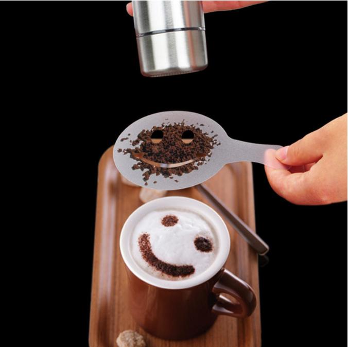 Трафареты кофе 16 штук многоразовые