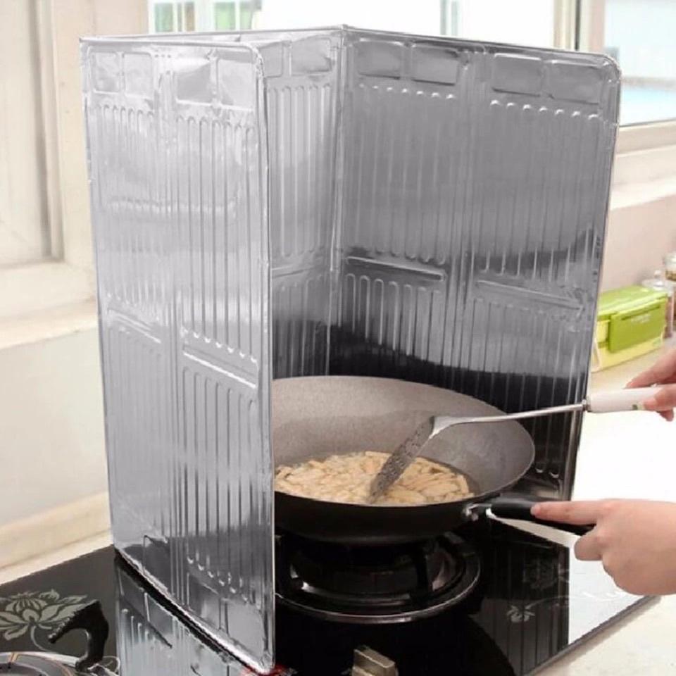 Защитная фольга экран для плиты от брызг при жарке 84х34 см Алюминиевая