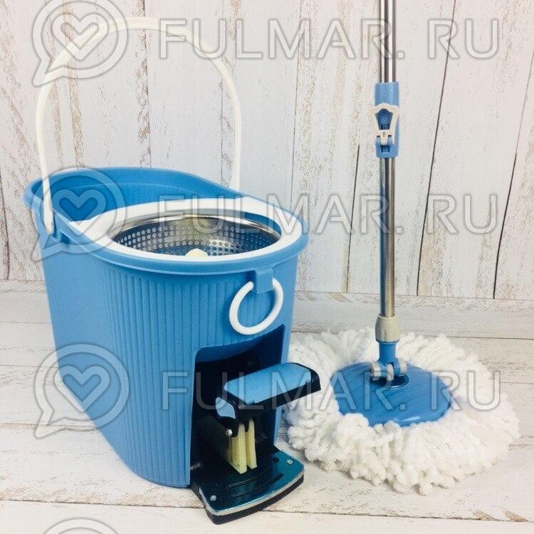 Швабра и ведро с отжимом Spin Mop 7,5 литров Цвет Голубой