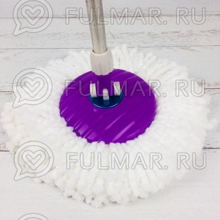 Швабра и ведро с отжимом Spin Mop 7,5 литров со стальной педалью Цвет Фиолетовый