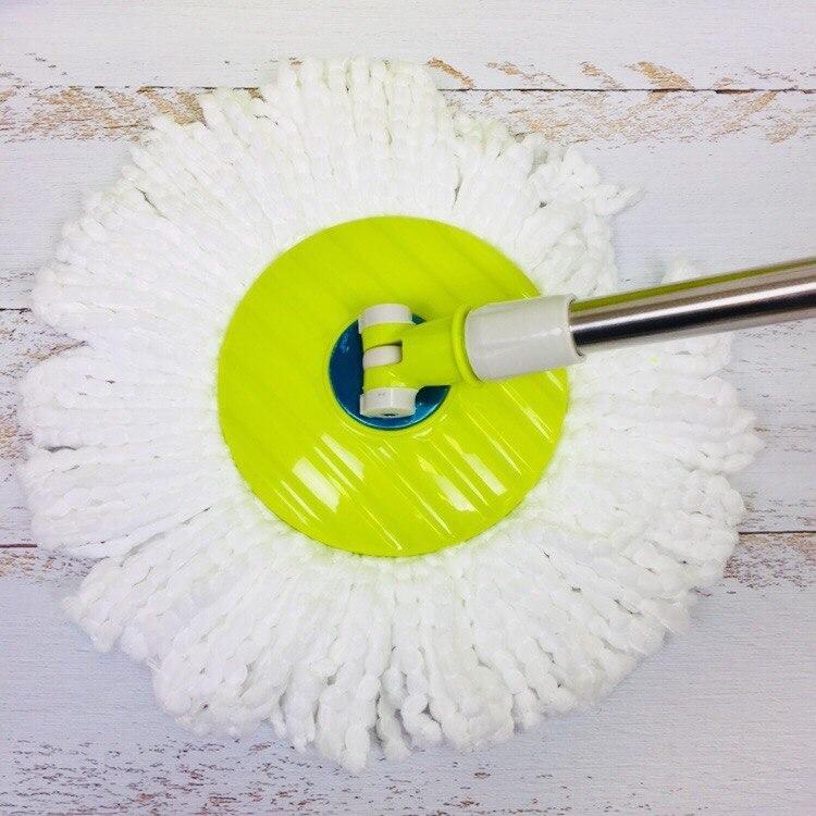 Швабра и ведро для отжима и полоскания на 2 колесиках с ручкой Spin Mop Wheels Салатовый