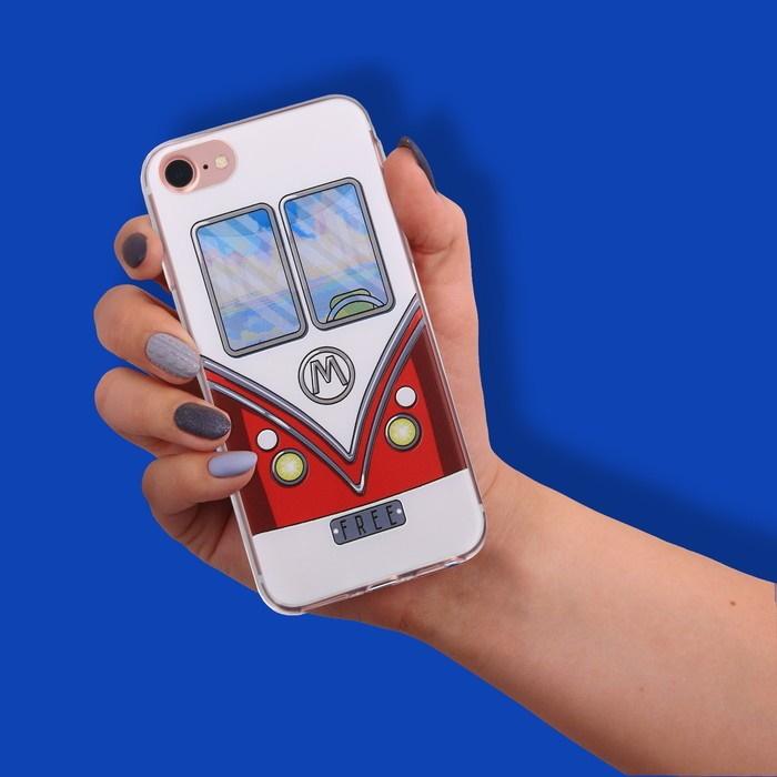 Чехол для телефона iPhone 7 с рельефным нанесением Free, 6.5  14 см