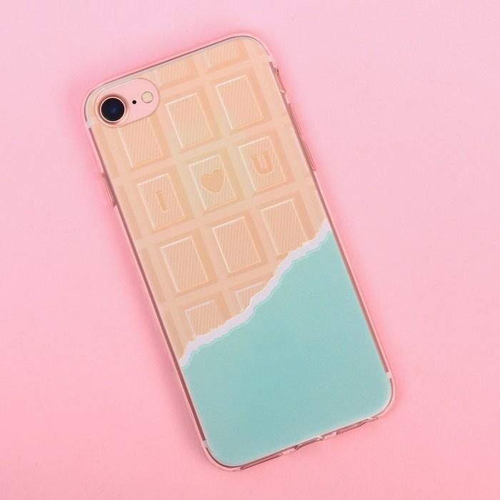 Чехол для телефона iPhone 7 с рельефным нанесением I love you, 6.5  14 см