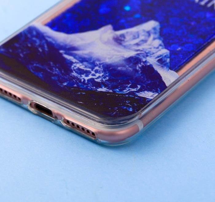 Чехол для телефона iPhone 7 с блёстками внутри «Сияние»