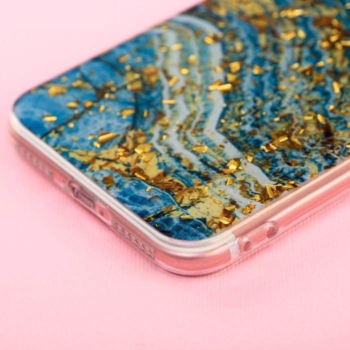 Чехол для телефона iPhone 7 с фольгированием Azure