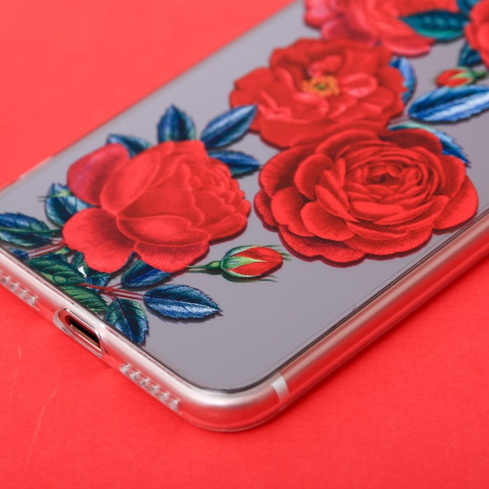 Чехол для телефона iPhone 7 с зеркальным эффектом «Розы», 6.5  14 см