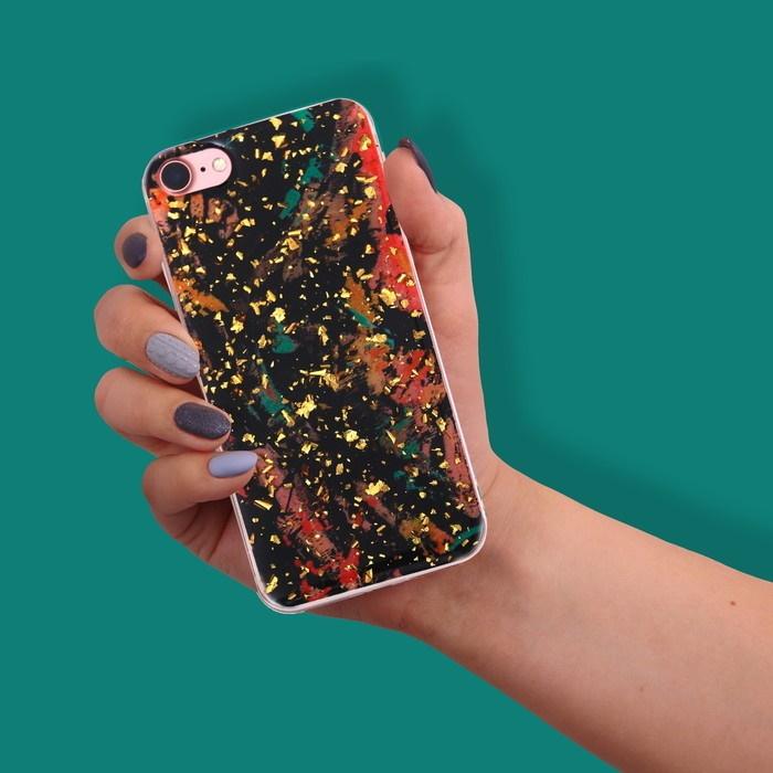 Чехол для телефона iPhone 7 с фольгированием Break rules