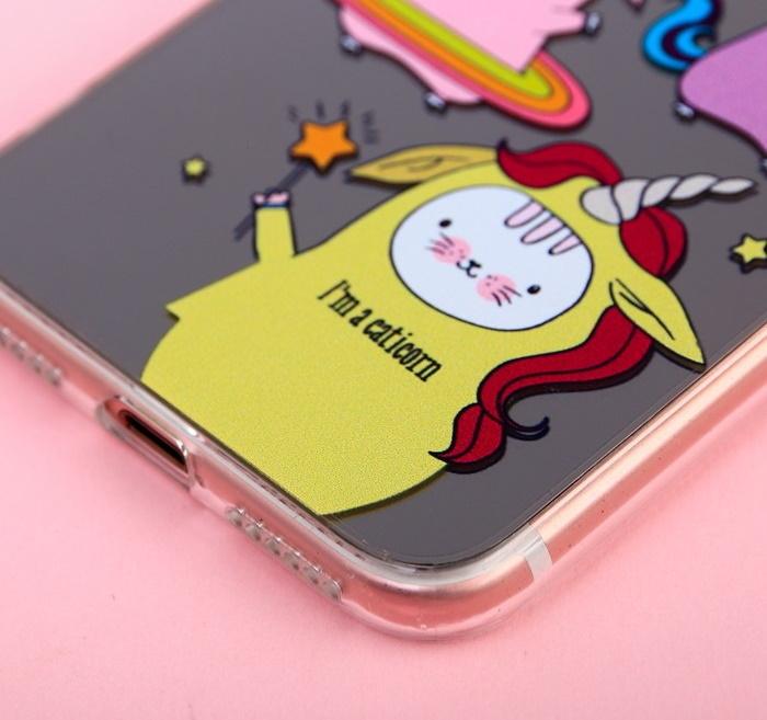 Чехол для телефона iPhone 7 с зеркальным эффектом Happy