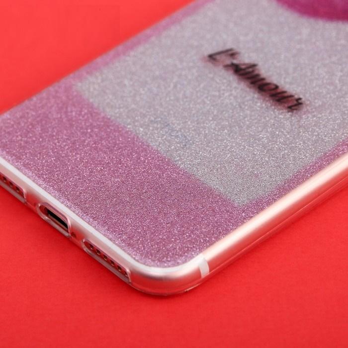 Силиконовый Чехол-накладка для телефона iPhone 7 L`Amour