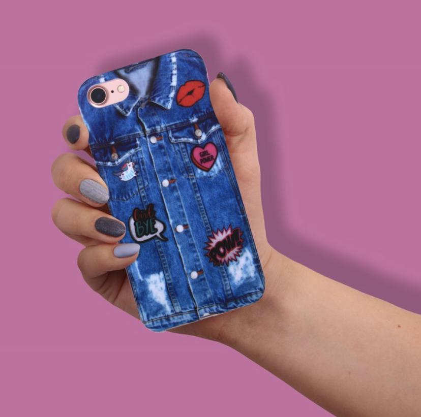 """Силиконовый Чехол для телефона iPhone 7  soft touch """"Джинса"""""""