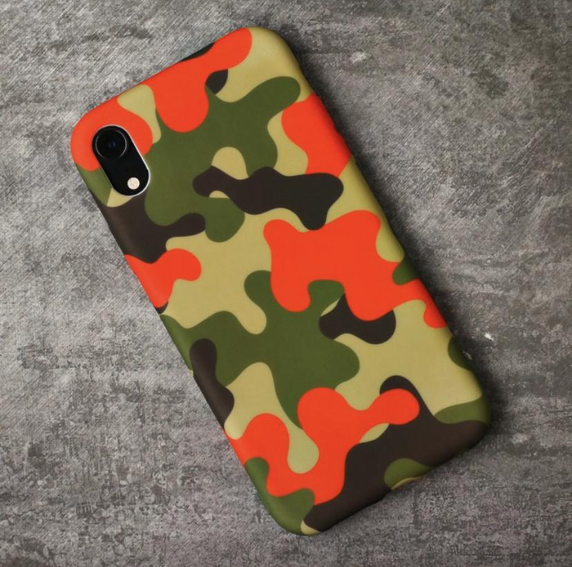 Чехол для телефона iPhone XR Love in air Цвет: Military салатовый зеленый оранжевый