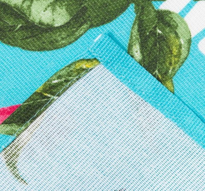 Полотенце кухонная Любимая мама 35*60 см цвет: бирюзовый