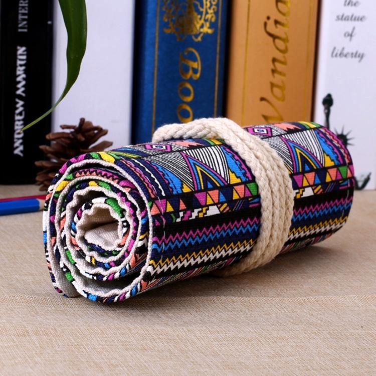 Пенал для карандашей сворачивается в трубочку Узоры под 36 карандашей