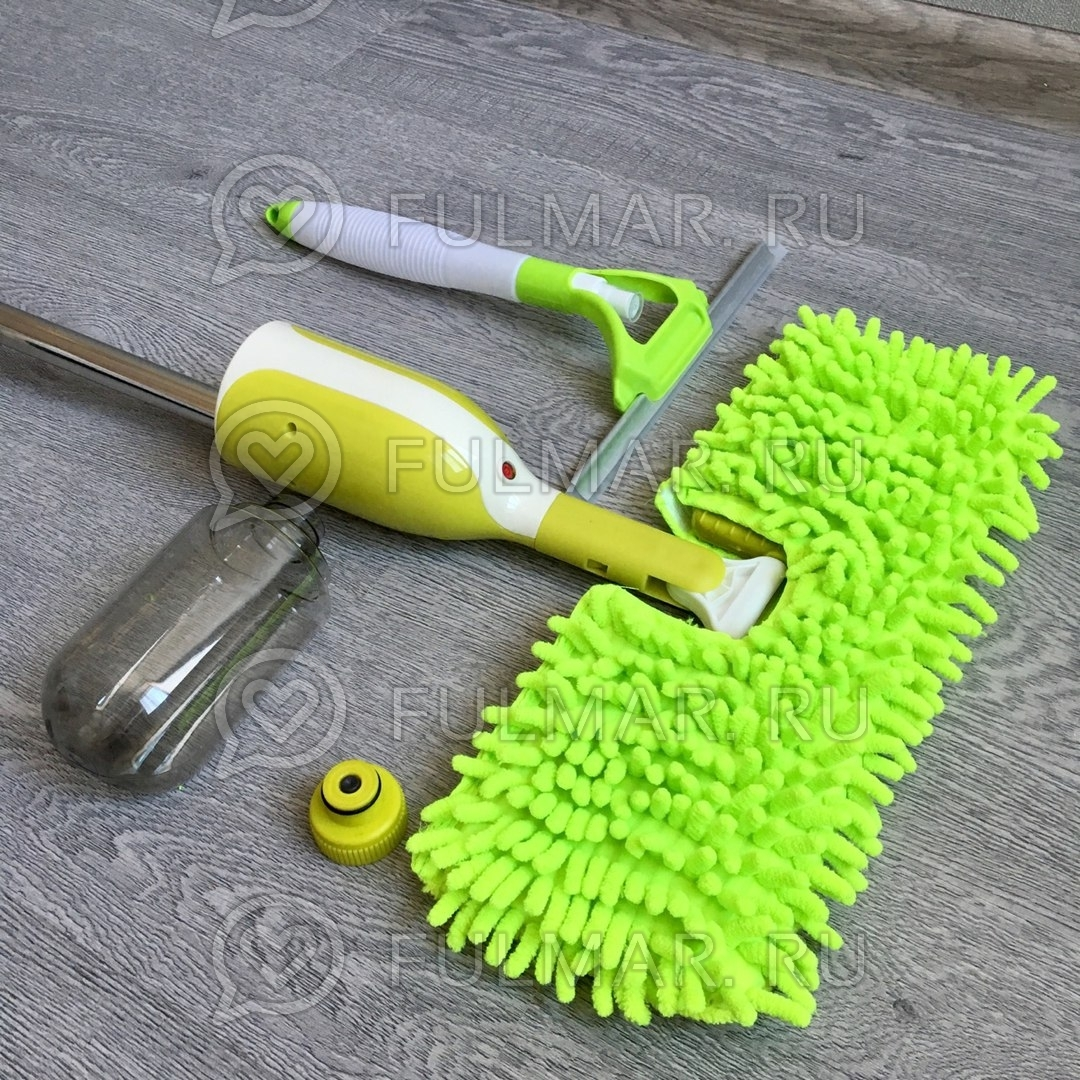 Умная швабра 3 в 1 с распылителем Spray Mop Deluxe со стеклоочистителем