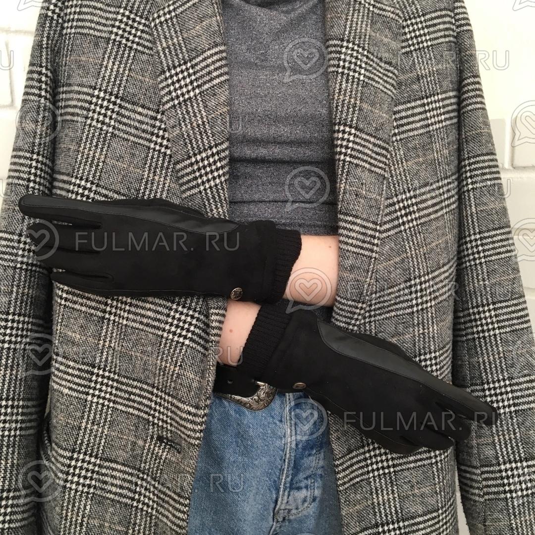 Женские перчатки Touch для сенсорных экранов на указательном пальце Чёрные Классика