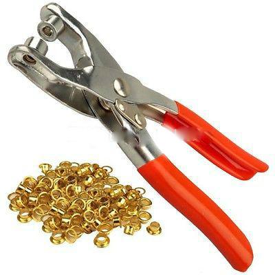 Инструмент пассатижи для установки заклёпок люверсов и пробивания дырок в ремнях