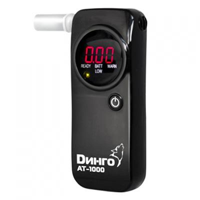 Алкотестер Dingo AT-1000 (черный) (+ Антисептик-спрей для рук в подарок!)
