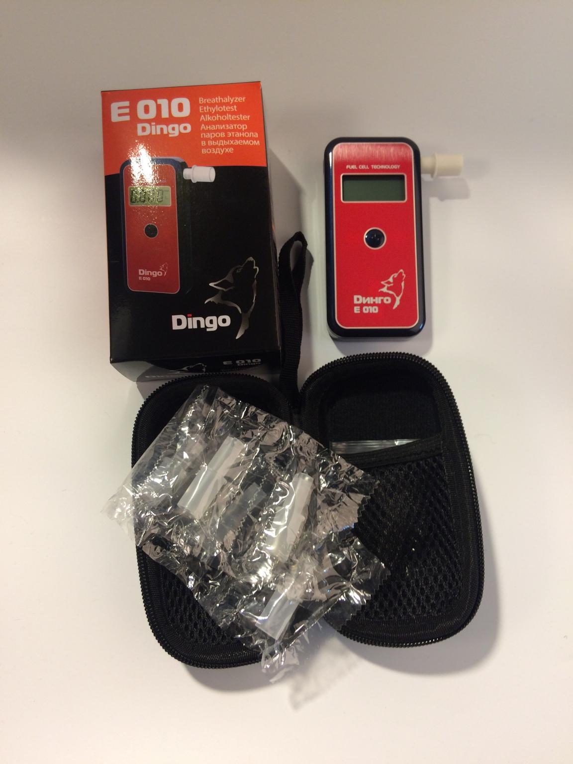 Алкотестер Dingo E-010 (+ Антисептик-спрей для рук в подарок!)