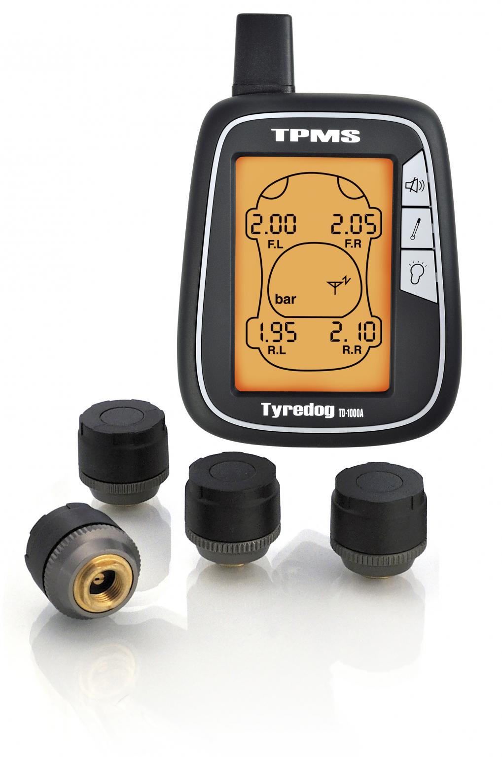 Система контроля давления и температуры в шинах Carax TPMS CRX-1002 (внешние датчики) (+ Антисептик-спрей для рук в по..
