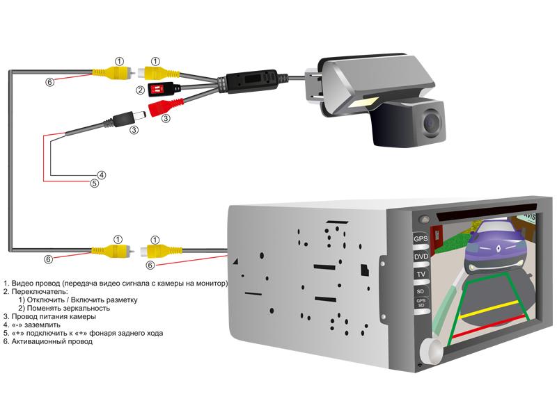CCD штатная камера заднего вида с динамической разметкой AVEL Electronics AVS326CPR (#056) для CITROEN C4 AIRCROSS/ MI..