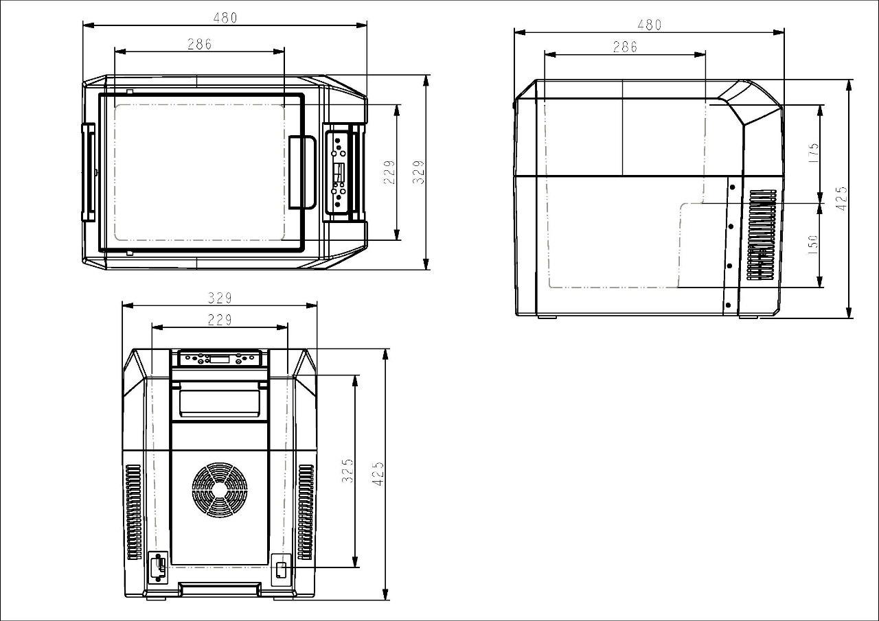 Автохолодильник компрессорный Colku DC-25T (+ Три аккумулятора холода в подарок!)