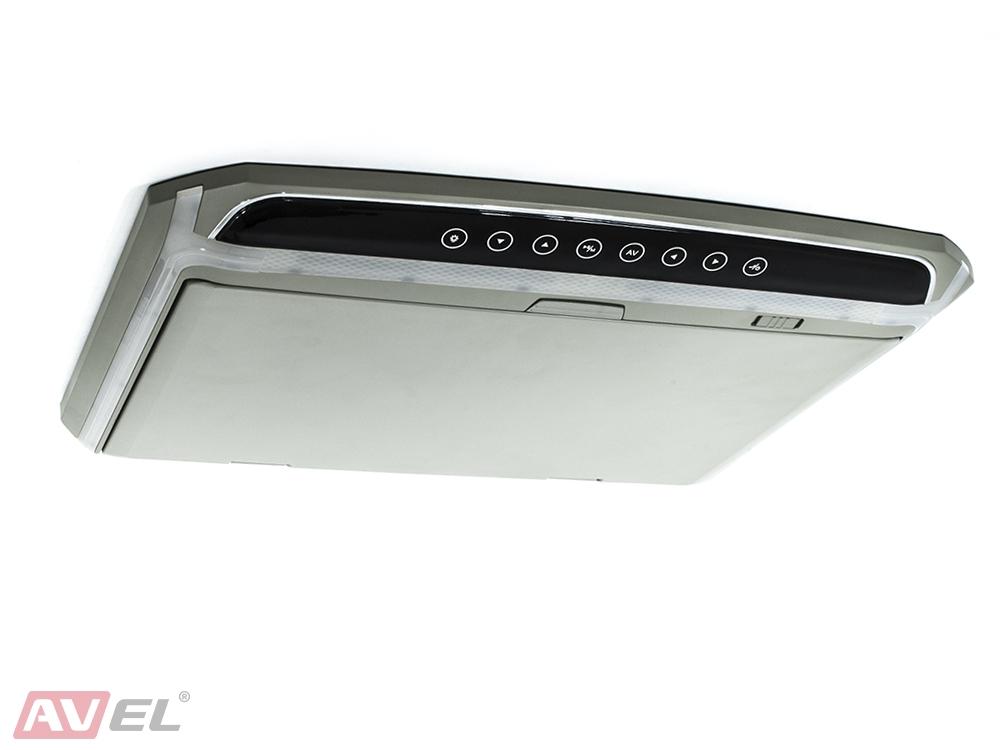 """Потолочный монитор 15,6"""" со встроенным Full HD медиаплеером AVS1507MPP (серый) (+ Антисептик-спрей для рук в подарок!)"""