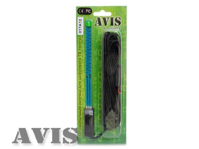 Автомобильная активная антенна AVEL AVS001DVBA (017A12) для цифровых ТВ-тюнеров DVB-T/ DVB-T2