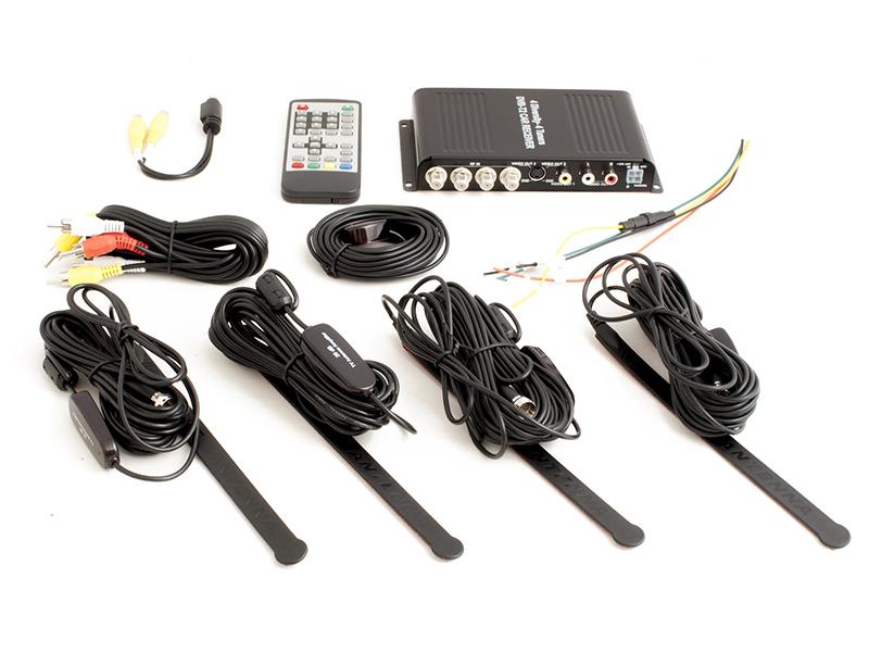 Автомобильный цифровой HD ТВ-тюнер DVB-T2 компактного размера AVEL AVS7004DVB