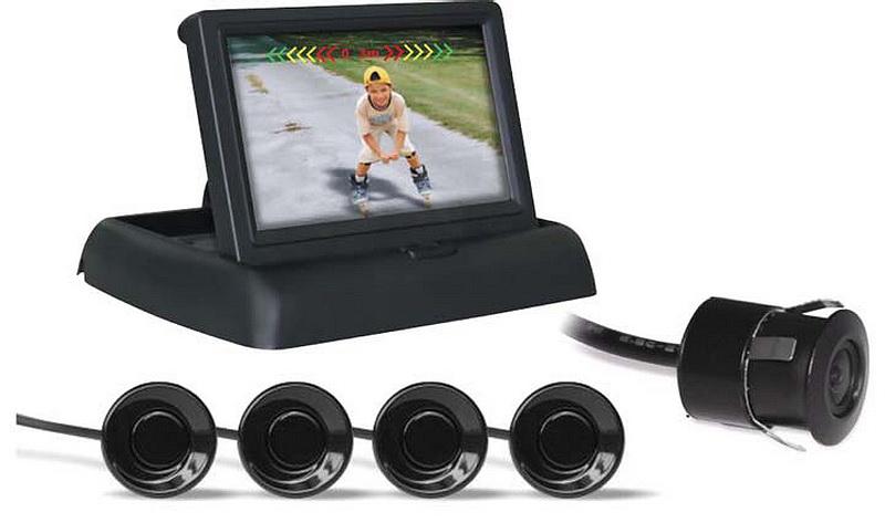 Парктроник AVS PS-842U с монитором и камерой заднего вида (+ Антисептик-спрей для рук в подарок!)