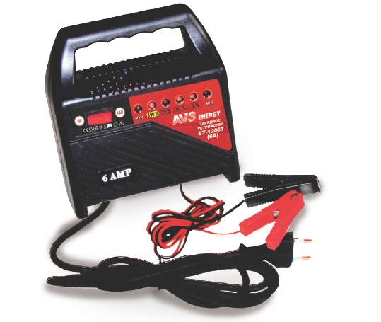 Устройство зарядное универсальное АКБ AVS Energy BT-1206T (6/12В, 6А) (+ Антисептик-спрей для рук в подарок!)