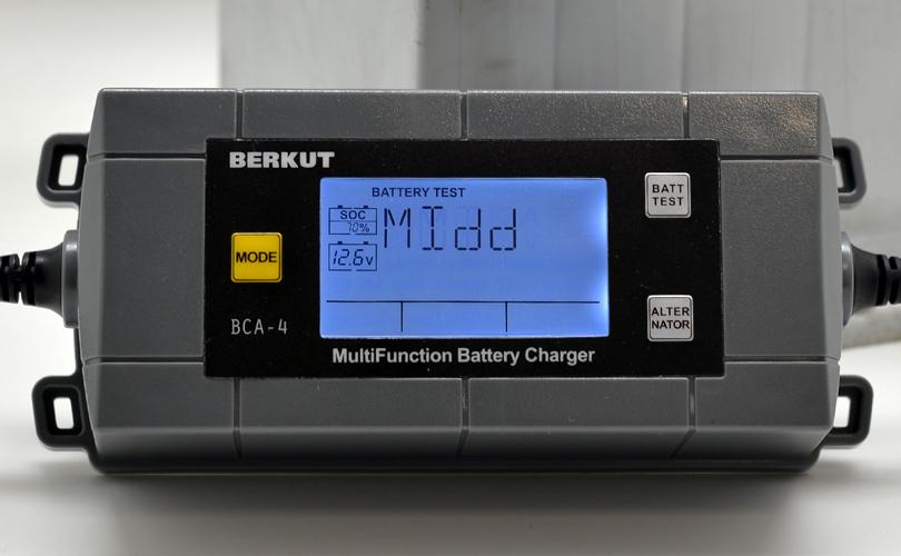 Автоматическое зарядное устройство с диагностикой АКБ BERKUT BCA-4 (+ Антисептик-спрей для рук в подарок!)
