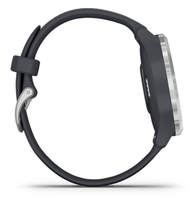Garmin Vivomove 3S серебристый циферблат с гранитно-синим ремешком