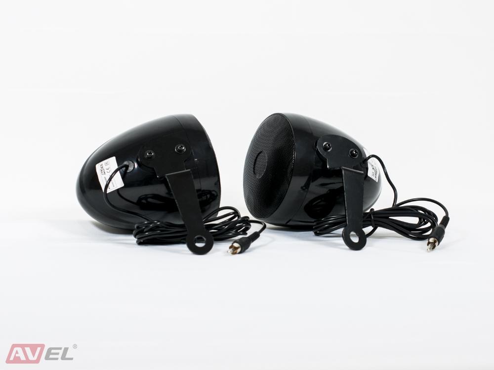 """Динамики для мотоцикла 3"""" AVS350MSP (черные) (+ Антисептик-спрей для рук в подарок!)"""