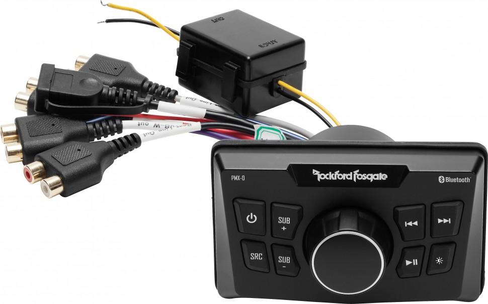 Панель управления Rockford Fosgate PMX-0 с Bluetooth и аудиовыходами (+ Антисептик-спрей для рук в подарок!)