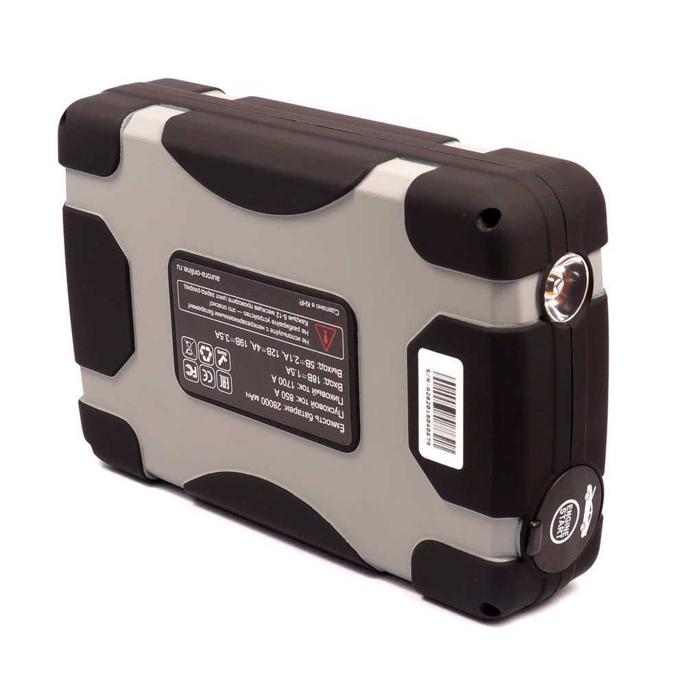 Портативное пусковое устройство AURORA ATOM 28 28000 мА/ч (+ Антисептик-спрей для рук в подарок!)