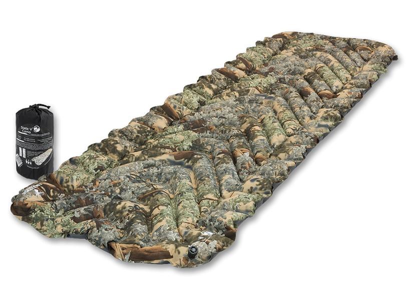 Надувной коврик Klymit Static V-Camo, камуфляж (06SVKd01C) (+ Антисептик-спрей для рук в подарок!)