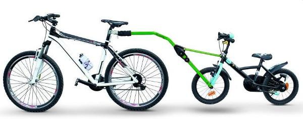 Прицепное устройство PERUZZO Trail Angel детского велосипеда к взрослому (зеленое) (+ Антисептик-спрей для рук в подар..
