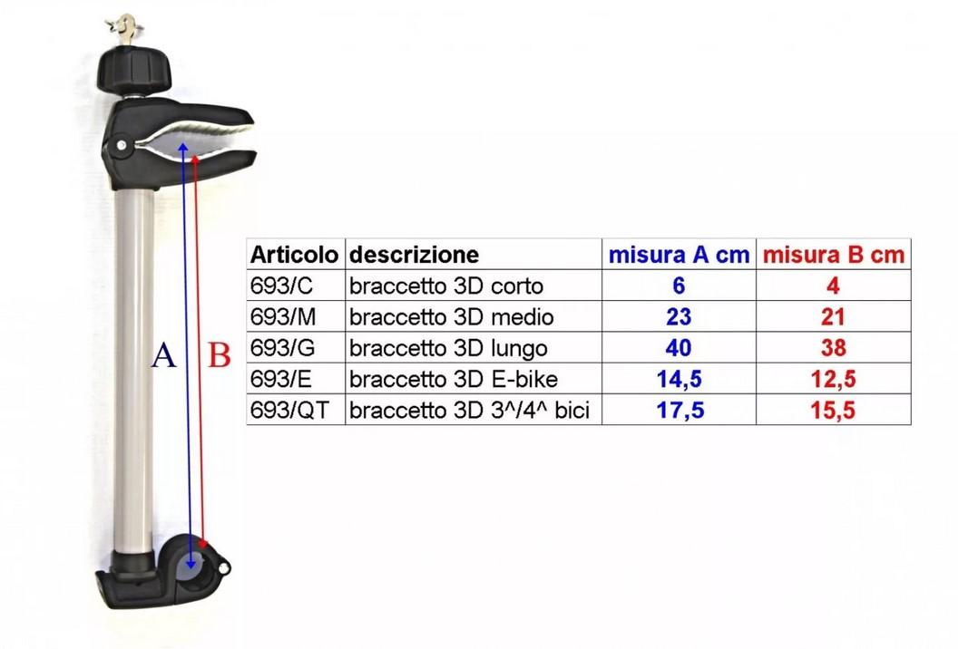 Адаптер 3D для фиксации 4-го велосипеда для Padova (серебро) (+ Антисептик-спрей для рук в подарок!)