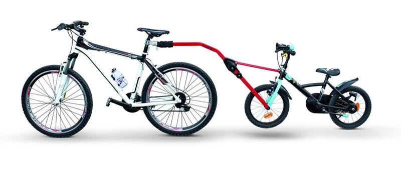Прицепное устройство PERUZZO Trail Angel детского велосипеда к взрослому (красное) (+ Антисептик-спрей для рук в подар..