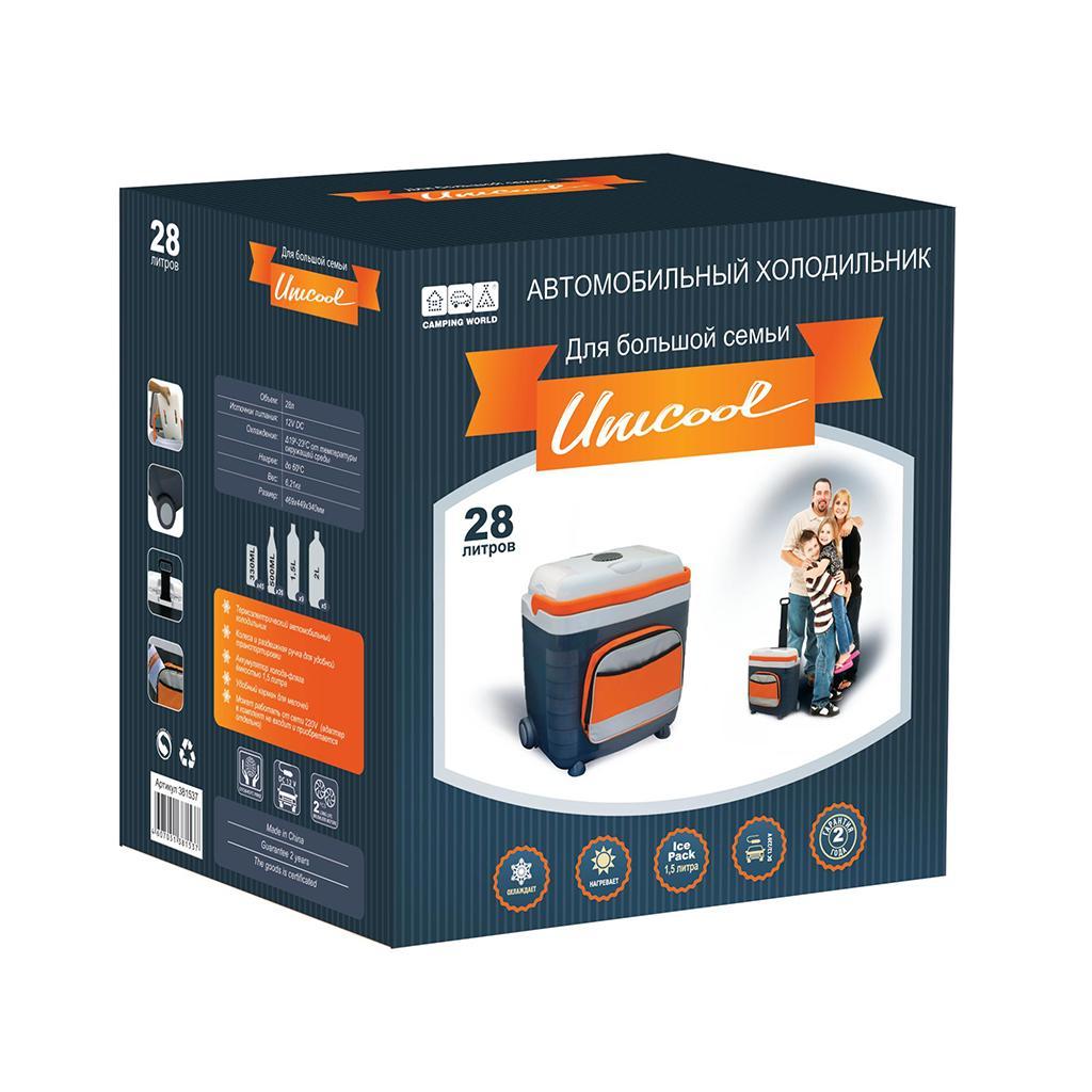 Термоэлектрический автохолодильник Camping World Unicool 28L (+ Три аккумулятора холода в подарок!)