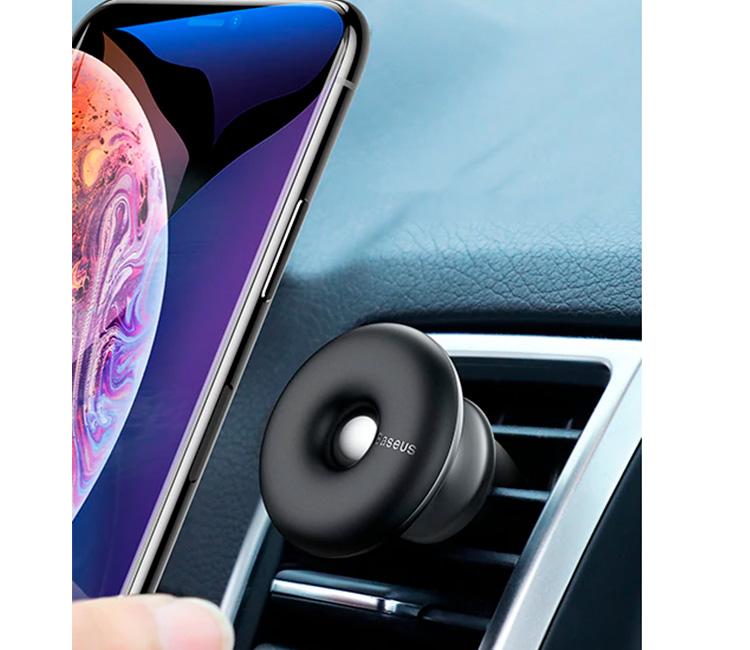 Автомобильный держатель для телефона в дефлектор магнитный Baseus Star Ring Air Outlet - Черный