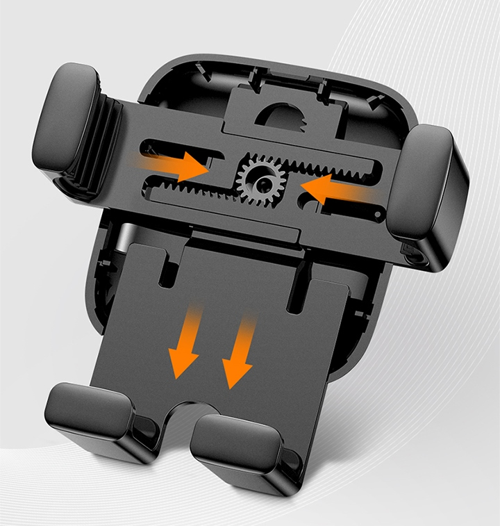 Держатель Baseus Cube Gravity Vehicle-mounted Holder (Silver)